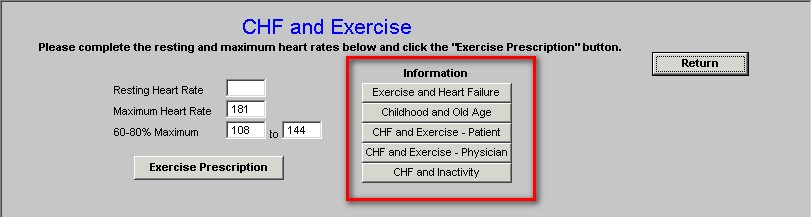 CHF Exercise