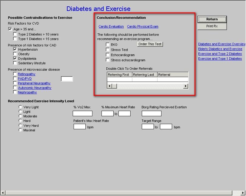 Diabetes Exercise