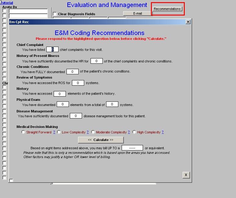 E & M Codes