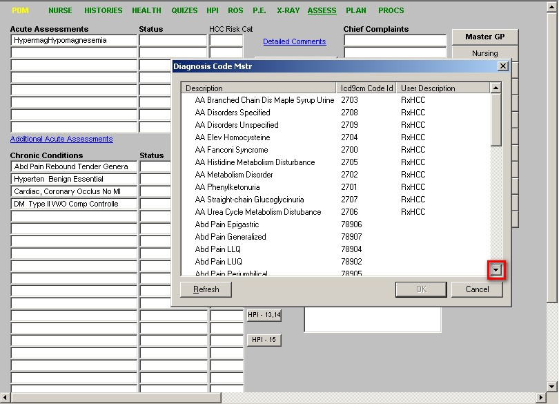 Finding ICD-9 Codes