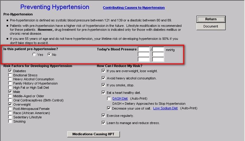 Preventing Hypertension