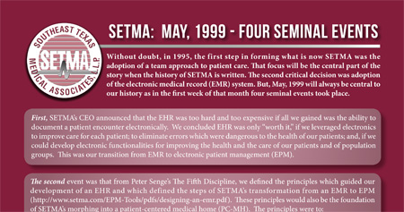 SETMA 1999 Four Seminal Events