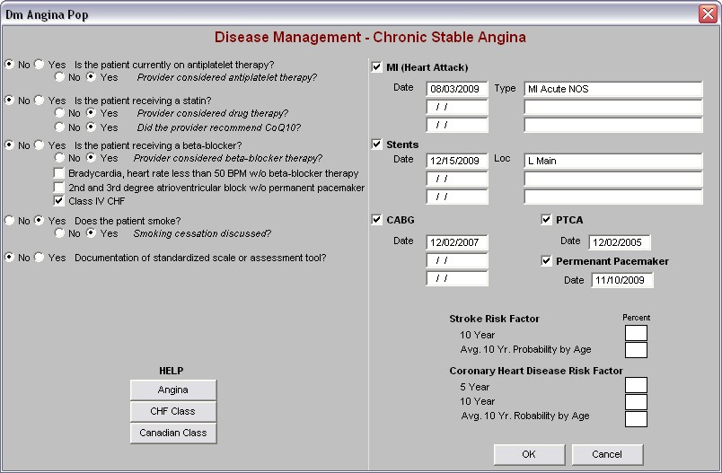 SETMA PCPI Chronic Stable Angina